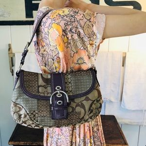 ♥️ Coach ♥️ Purple Patchwork Shoulder Bag